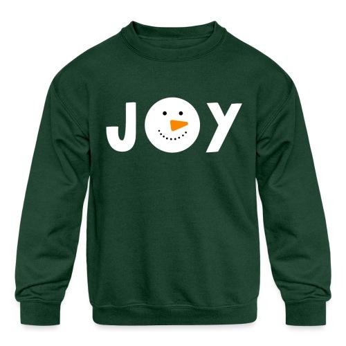 JOY - Snowman Christmas Design! - Kids' Crewneck Sweatshirt