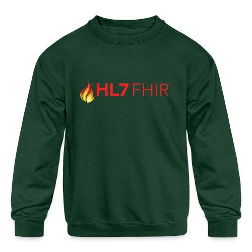 HL7 FHIR Logo - Kids' Crewneck Sweatshirt