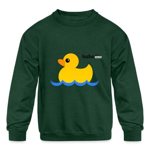 Hubs Duck - Wordmark and Water - Kids' Crewneck Sweatshirt
