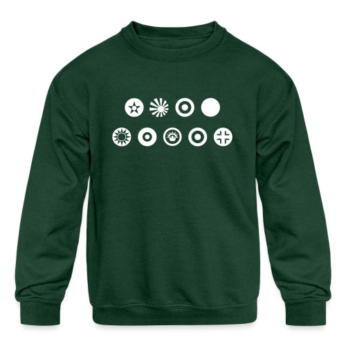 Axis & Allies Country Symbols - One Color - Kids' Crewneck Sweatshirt