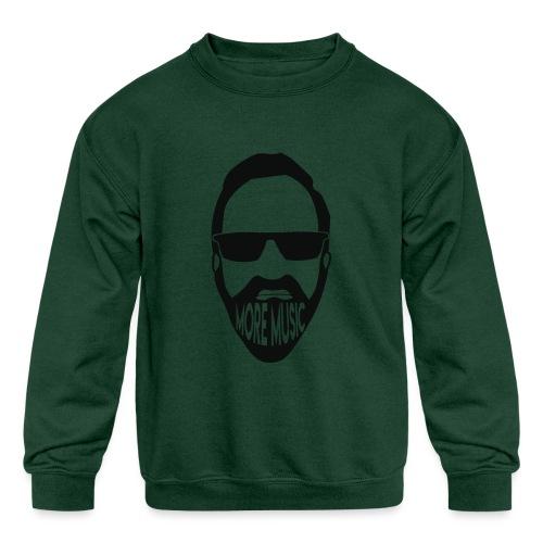 Joey D More Music front image multi color options - Kids' Crewneck Sweatshirt