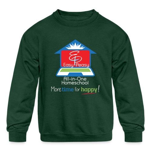 EZPZ Logo All-in-One Homeschool and Tagline - Kids' Crewneck Sweatshirt
