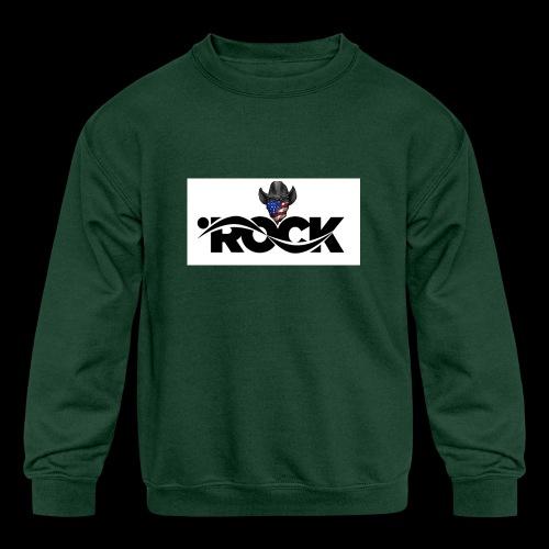 Eye Rock Cowboy Design - Kids' Crewneck Sweatshirt