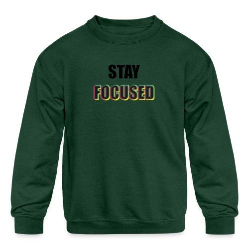 focused - Kids' Crewneck Sweatshirt