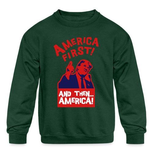 AMERICA FIRST - Kids' Crewneck Sweatshirt