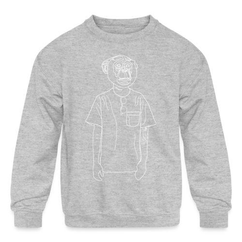 Hipster Monkey - Kids' Crewneck Sweatshirt