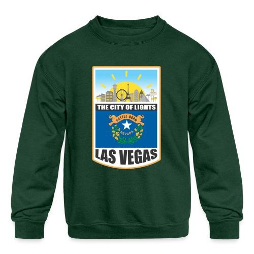 Las Vegas - Nevada - The city of light! - Kids' Crewneck Sweatshirt