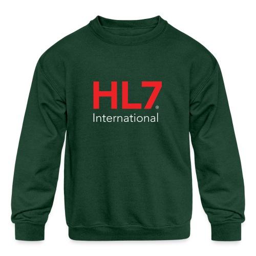 HL7 International Logo - Reverse - Kids' Crewneck Sweatshirt