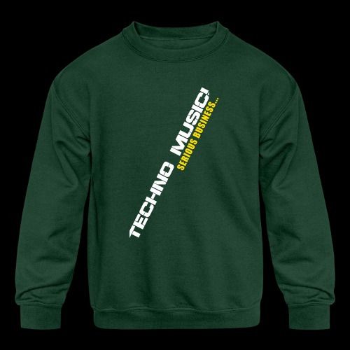 Techno Music - Kids' Crewneck Sweatshirt