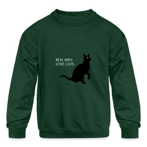 Real Men... - Kids' Crewneck Sweatshirt