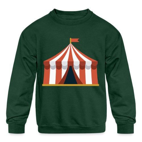 Striped Circus Tent - Kids' Crewneck Sweatshirt