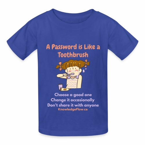 A Password is Like a Toothbrush...(1) - Hanes Youth T-Shirt