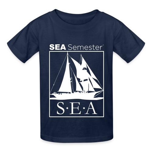 SEA_logo_WHITE_eps - Hanes Youth T-Shirt