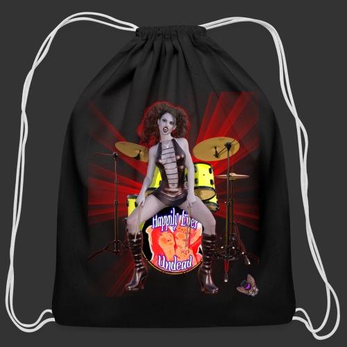Happily Ever Undead: Bella Bloodlust Drummer - Cotton Drawstring Bag