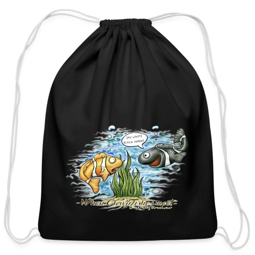 when clownfishes meet - Cotton Drawstring Bag