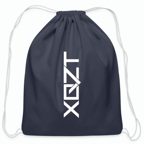 #XQZT Logo Snow White - Cotton Drawstring Bag