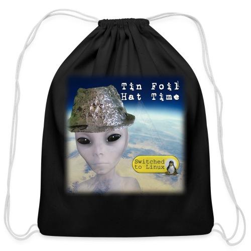 Tin Foil Hat Time (Earth) - Cotton Drawstring Bag