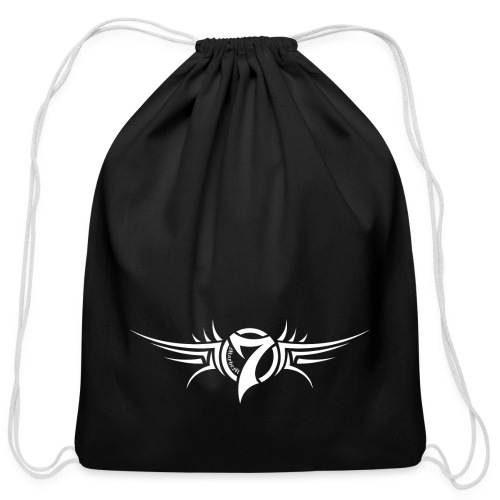 MayheM-7 Tattoo Logo White - Cotton Drawstring Bag