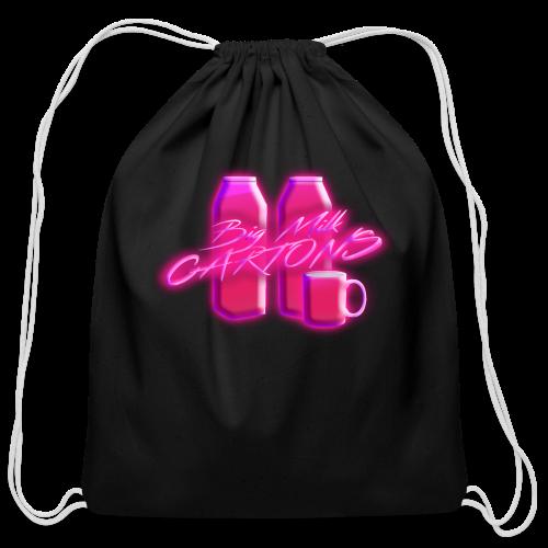 BigMilkCartons Pink Logo - Cotton Drawstring Bag