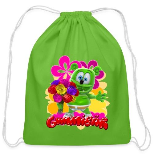 Gummibär Flowers - Cotton Drawstring Bag