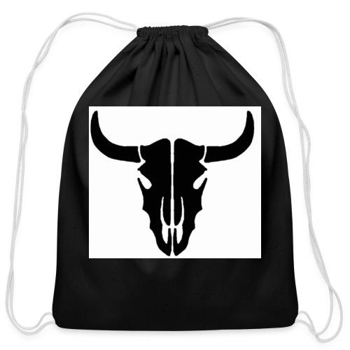 Longhorn skull - Cotton Drawstring Bag