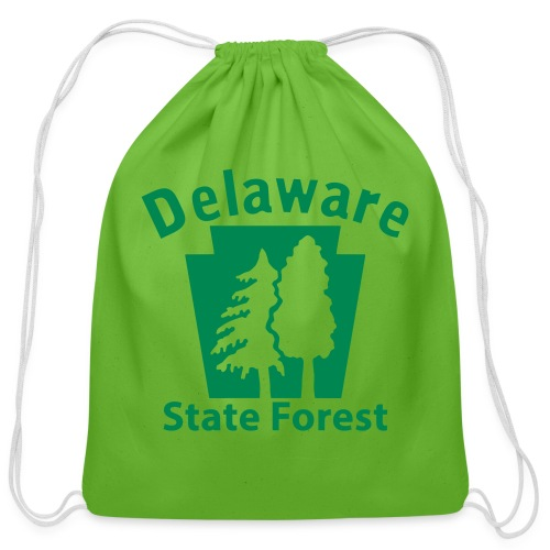 Delaware State Forest Keystone (w/trees) - Cotton Drawstring Bag