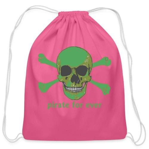 Pirate for ever - Cotton Drawstring Bag