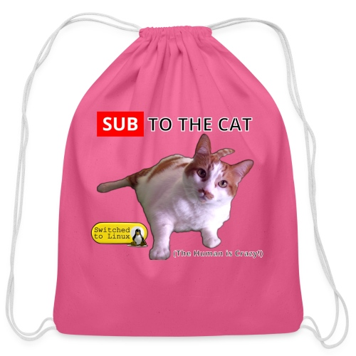 Sub to the Cat - Cotton Drawstring Bag