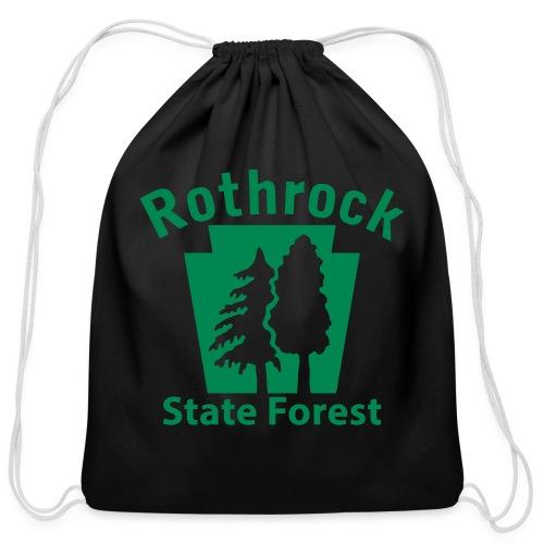 Rothrock State Forest Keystone (w/trees) - Cotton Drawstring Bag