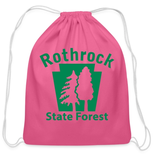 Rothrock State Forest Keystone (w/trees) - Cotton Drawstring Bag