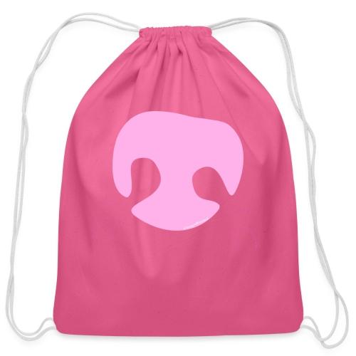 Pink Whimsical Dog Nose - Cotton Drawstring Bag