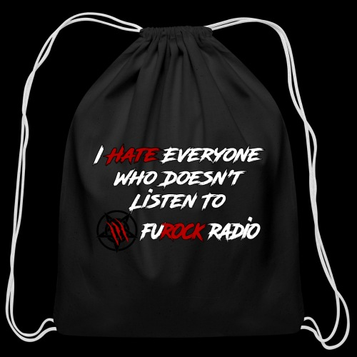I Hate Everyone - Cotton Drawstring Bag