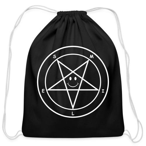 Smile Pentagram - Cotton Drawstring Bag