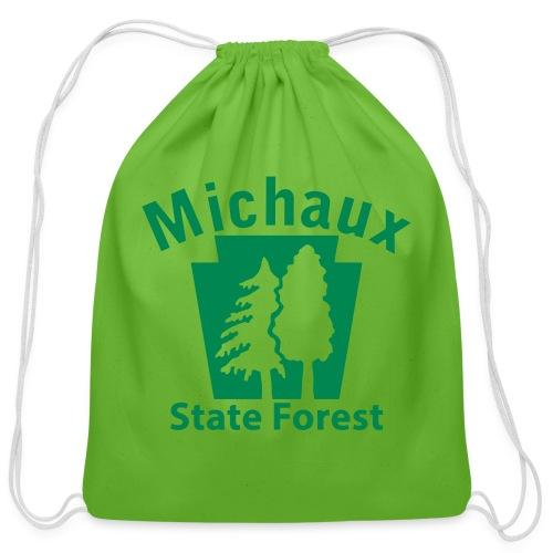Michaux State Forest Keystone (w/trees) - Cotton Drawstring Bag