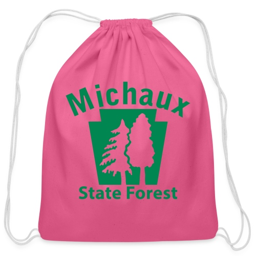 Michaux State Forest Keystone (w/trees) - Cotton Drawstring Bag
