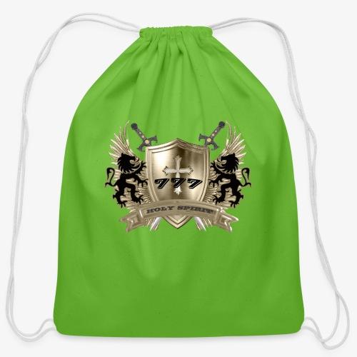 HOLY SPIRIT GOLD SHIELD - Cotton Drawstring Bag