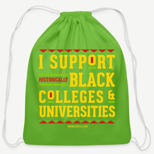 I Support HBCUs - Cotton Drawstring Bag