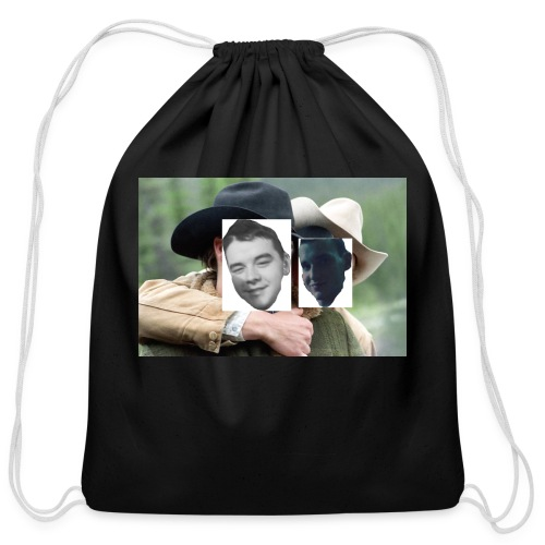 Darien and Curtis Camping Buddies - Cotton Drawstring Bag