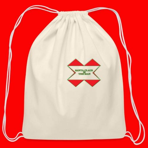 SANTA CLAUS IS THE MAN - Cotton Drawstring Bag