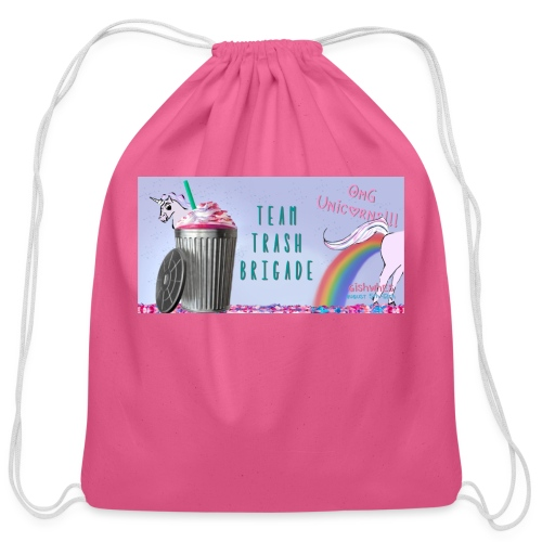 trash brigade unicorns - Cotton Drawstring Bag
