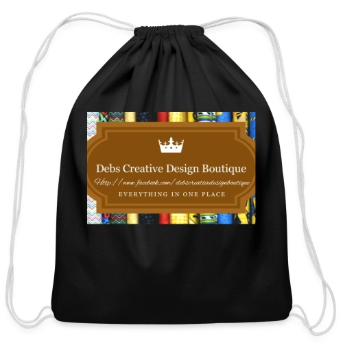 Debs Creative Design Boutique with site - Cotton Drawstring Bag