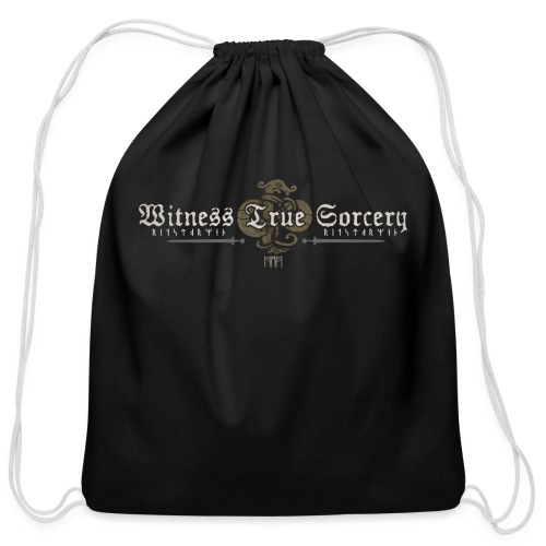 Witness True Sorcery Logo - Cotton Drawstring Bag
