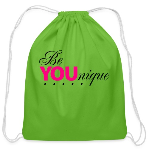Be Unique Be You Just Be You - Cotton Drawstring Bag