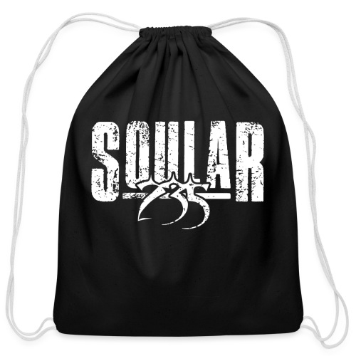 Soular235 White Logo - Cotton Drawstring Bag