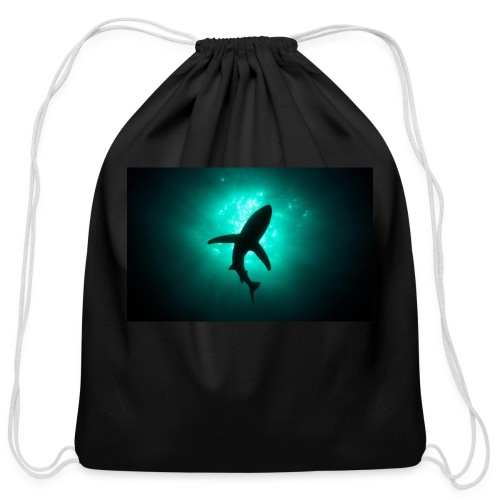 Shark in the abbis - Cotton Drawstring Bag