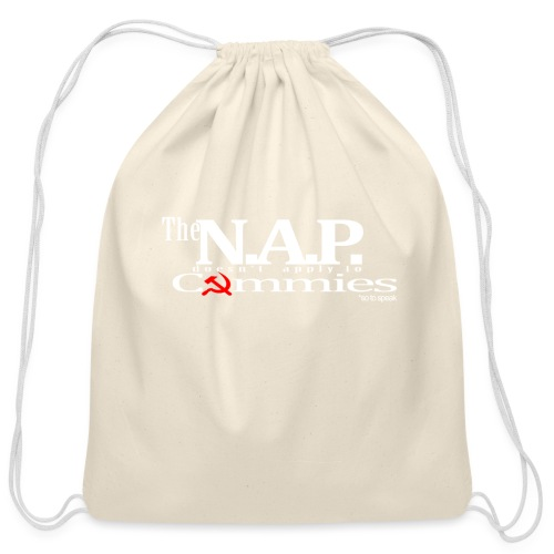 NAP so to speak white libertarian - Cotton Drawstring Bag