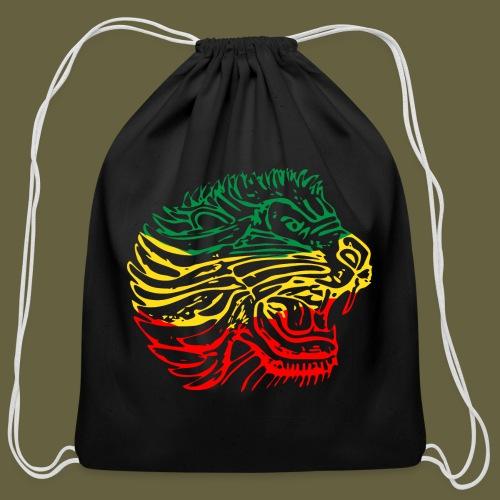 Cent Lion Head GYR - Cotton Drawstring Bag