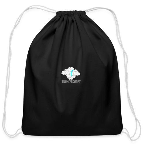 TurkiyeCarft Cloud Logo - Cotton Drawstring Bag