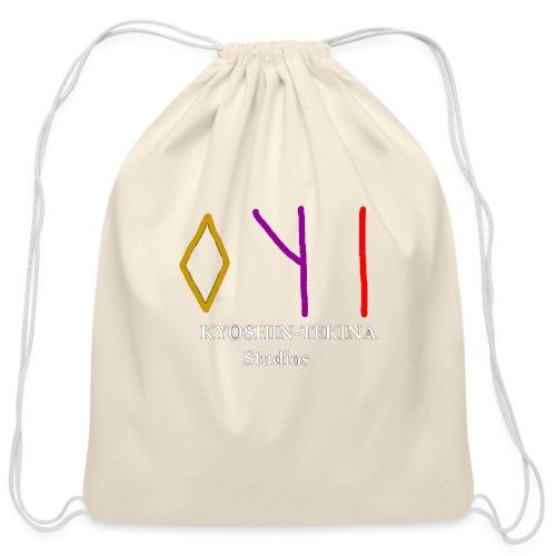 Kyoshin-Tekina Studios logo (white text) - Cotton Drawstring Bag