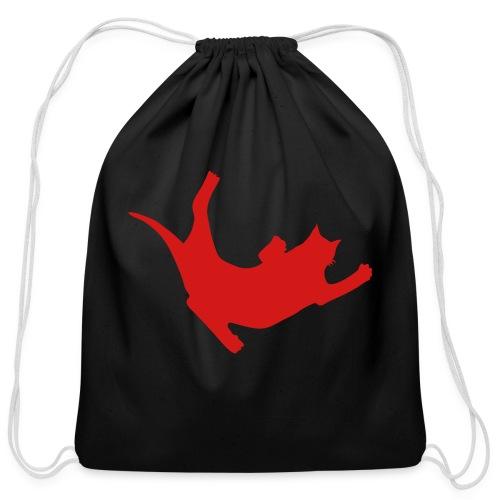 Fly Cat - Cotton Drawstring Bag